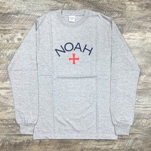 Noah NYC Core Logo Gray Long Sleeve Tee
